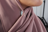 Magnetic hijab clip  - Grey